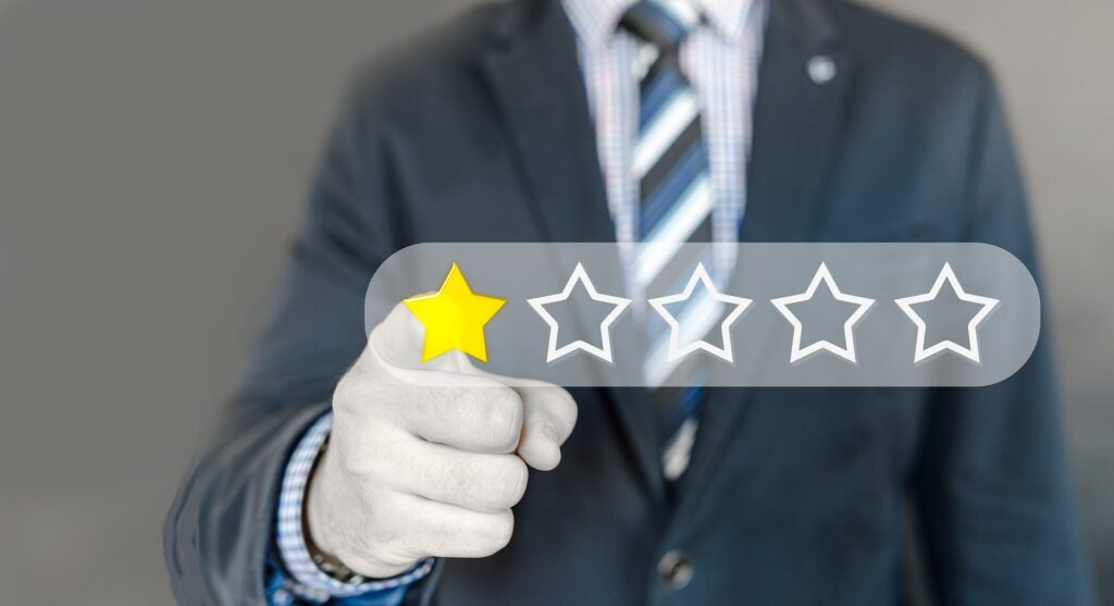 Reviewing a product - star rating