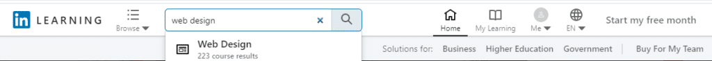 LinkedIn Learning Toolbar