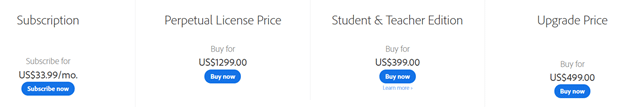 Adobe Captivate Pricing