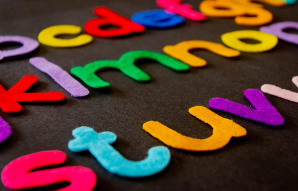 Learning with felt letters