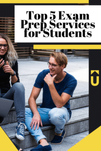 Students talking on a step