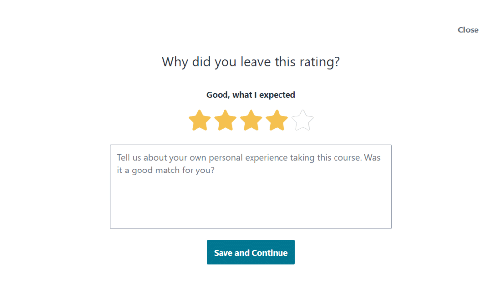 Leave a course review