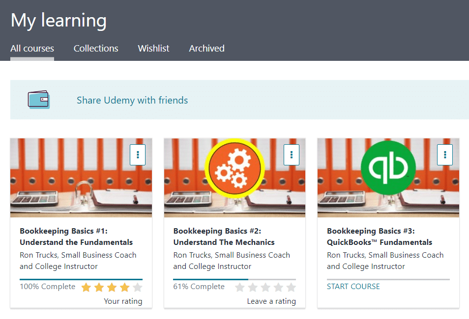 Udemy My Learning
