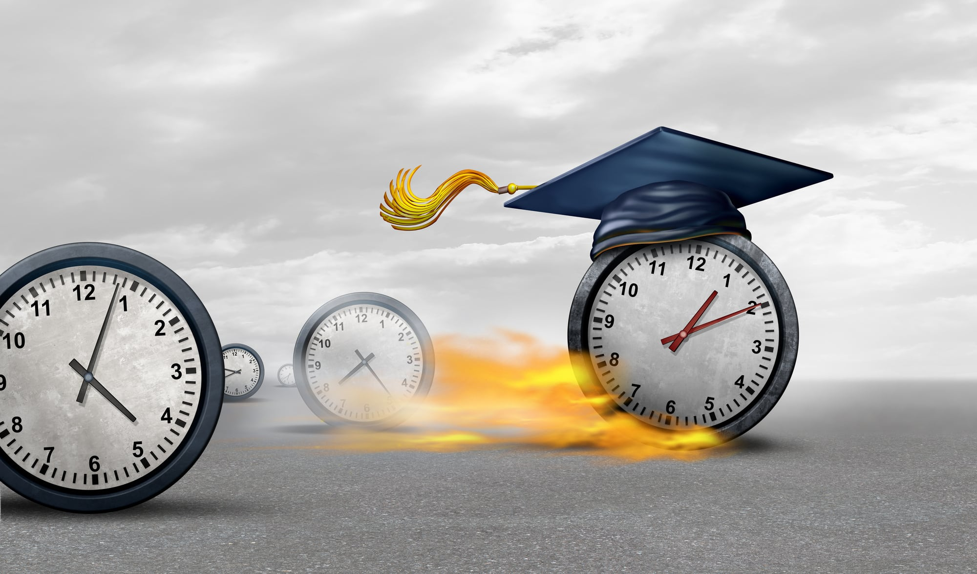 Accelerated learning - 2 clocks in a race