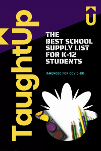 Best school supply list for k-12 students (amended for covid-19)