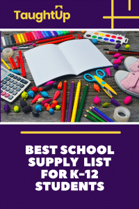 Best school supply list for k-12 students